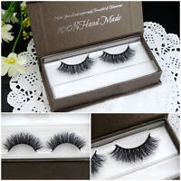 Hot 2X Real 3D Mink Makeup Fur Thick False Eyelashes Ladies Eye Lashes Extension
