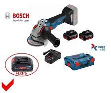 Bosch Akku-Winkelschleifer GWS 18 V-10 C 125mm 2 Akkus 5,0 Ah + 8 Ah Akku L-Boxx