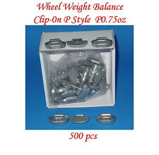 Wholesales 500 Pcs 0.75 oz 3/4 oz P Style Steel Wheel Weight, Clip on balancing