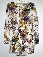 Angel Biba Size 8 Long Sleeve Summer Playsuit Romper Open Lace Back Flower Print