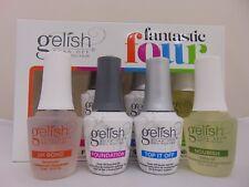 Gelish Fantastic Four Essentials Collection Soak Off Gel Nail Polish Kit, 0.5 oz