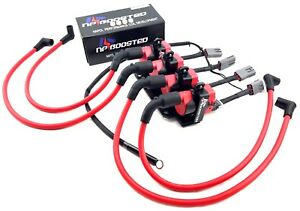 FITS RX-8 RX8 D585 IGNITION Coil Kit 10mm Wires w/ Harness & Mounting Bracket
