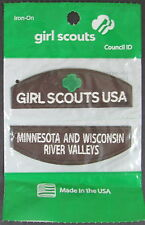 (12) Girl Scout BROWNIE Minnesota & Wisconsin River Valleys Council ID Set Patch