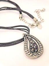 "Beautiful Lia Sophia ""PERSIA"" Necklace, 16-19"", Cut Crystals, NWOT"