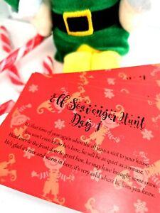 Elf Hunt Clues Cards Shelf Christmas Scavenger Shelf Game Children's Activity