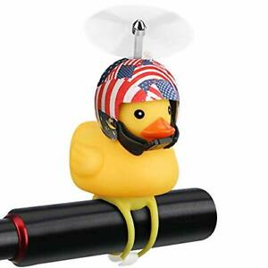 Cute Rubber Duck with LED Light Bell Horns Bike Bicycle Accessories Handlebar