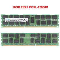 For Samsung 16GB PC3L-12800R 2RX4 DDR3L-1600Mhz 1.35V ECC REG Server Memory RAM