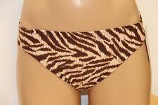 New Michael Kors Swimsuit Bikini Bottom Size L Brown