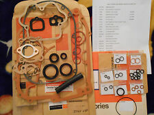 HARLEY AERMACCHI 69-70 SPRINT 350 ENGINE GASKETS + OIL DRAIN HOSE, CARB O-RING +