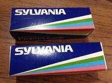 2-NEW-Sylvania tungsten halogen projector lamp EHA,2-500 W,120 V AVG 75 hours