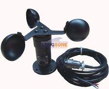 Wind Speed Sensor Three Cup Anemometer Aluminium Alloyed Current 4-20mA output