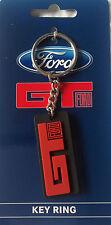 FORD GT LOGO RUBBER KEYRING V8 SUPERCARS