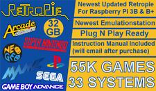 32GB Retropie Micro SD Card For Raspberry Pi 3B & 3B+ Plug N Play NEW (55K)