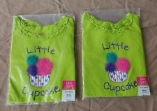 """NEW w/ Tags~Girls 18 Months~TWINS~OKIE DOKIE """"Little Cupcake"""" Lot of 2 (11J)"""