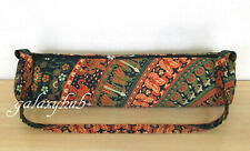 Indian Cotton Mandala Handmade Adjustable Tote Bag Yoga Mat Exercise Carry Strap