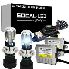 SOCAL-LED AC 55W H4 9003 HID BI-XENON Kit High Power Dual Beam Headlight Bulbs