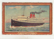 RMS Manxman 1921 Isle of Man Shipping Postcard US039
