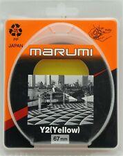 NEW Marumi Y2 (Yellow) 49mm,55mm,67mm Japan Camera Lens Filter