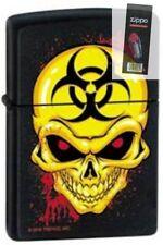 Zippo 1728 biohazard skull black Lighter + FLINT PACK