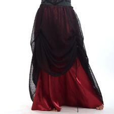 1pc Gothic Women Ruffle Skirt  Black Organza Victorian Steampunk Vintage