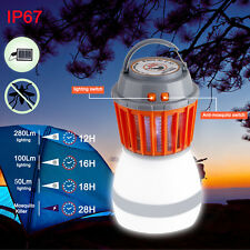 UV Solar LED Electric Fly Insect Bug Pest Mosquito Trap Zapper Killer Night Lamp