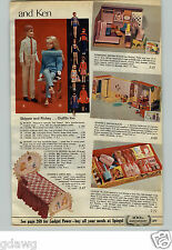1965 PAPER AD Doll Skipper Rickey Bed Tressy Cricket Color 'N Curl Dream House