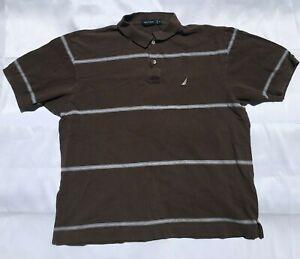 Nautica Classic Casual Striped Polo Mens Size XL