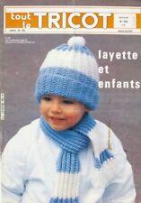Revue de mode Catalogue de tricot - Tout le Tricot n°168 - 1980 - Layette Enfant