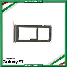 CARRELLINO LETTORE SIM + MICRO SD PER SAMSUNG S7 G930F ROSA PINK