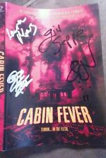 Cabin Fever DVD Signed X4 Eli Roth, Rider Strong, Giuseppe FREE SHIP