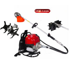 Backpack gx35 4 Stroke gas Brush Cutter Tiller Grass Hedge Trimmer Cultivator