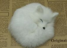 small white sleeping simulation fox toy beautiful fox doll gift aboout 14x5cm