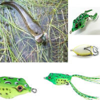 5PCS Large Frog Topwater Soft Fishing Lure Crankbait Hooks Bass Bait Tackle JP
