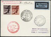 Zeppelin Österreich 1930 Südamerikafahrt Bahia Zuleitungspost Si 57 L / 472