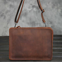 Envelope Clutch Bag  Men's Wristlet Wallet Shoulder Leather Messenger Briefcase