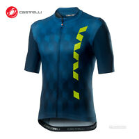 NEW 2020 Castelli FUORI Short Sleeve Full Zip Cycling Jersey DARK INFINITY BLUE