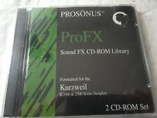 "KURZWEIL ""NEW"" PROSONUS ProFX ~ ORIGINAL 2Cd-Rom Library  ~ K2000/K2500 PROG!"