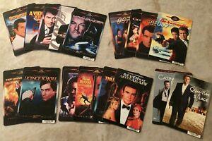 Blockbuster Video ~ 17 Movie Backer Cards ~ Mini posters ~ James Bond 007 ~ Rare