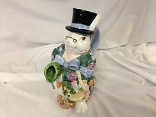 Fitz & Floyd Bloomers Easter Rabbit Pitcher
