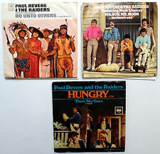 PAUL REVERE& the RAIDERS Lot of 3 x 45 rpm  Singles w/ PIC SLEEVES  w2768