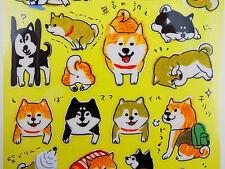 Japanese Shiba Inu stickers! Kawaii dog stickers, funny puppy, silly emoji dog