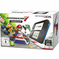 New Nintendo 2DS Black+Blue Console With Mario Kart 7 Pre-Installed