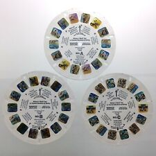 Lot of 3 Mickeys World Tour 3D View Master Slides Stereo Reels Q645