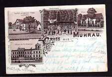 108367 AK Muhrau Litho 1900 Gasthof zum deutschen Frieden Schule Schloss von Frl