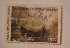 1993 94 Arkansas Game & Fish Commission ~ Trout Fishing Convervation Stamp