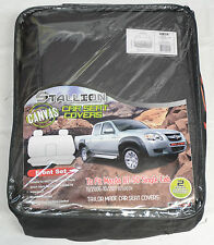 FULL CAR PACK WATERPROOF CANVAS CAR SEAT COVERS MAZDA BT-50 SINGLE CAB 06-11