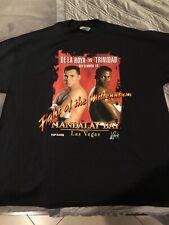 New listing 2000s Oscar De La Hoya Vs Trinidad Boxing T Shirt Mens Size Xl Vintage