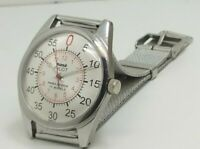 hmt pilot mens steel plated winding made india watch run order
