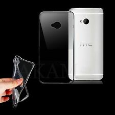 Ultra Thin Soft TPU Silicon Crystal Clear Gel Back Case Cover For HTC One M7