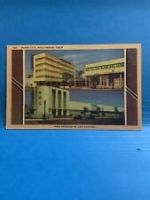 Linen Postcard New Studios CBS and NBC, Radio City, Hollywood, California SSV